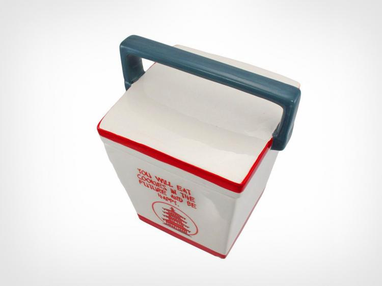 Chinese Take-Out Box Cookie Jar - Chinese Box Dog Treat Jar