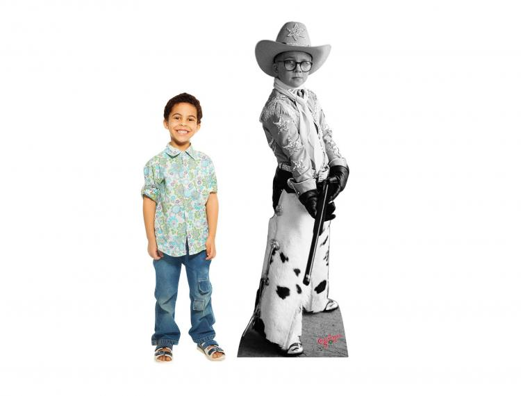 Christmas Character Life-size Cardboard Cutouts - Ralphie Rifle A Christmas Story Cardboard Cut Out