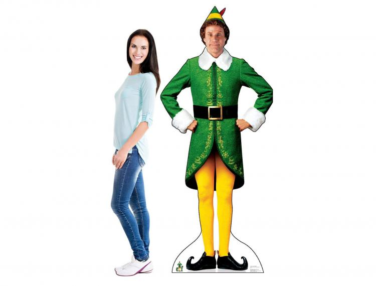 Christmas Character Life-size Cardboard Cutouts -Elf Will Ferrell Movie Christmas Cardboard Cut Out