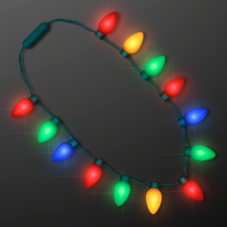 christmas light bulbs necklace blinking christmas bulb necklace - Christmas Globe Lights