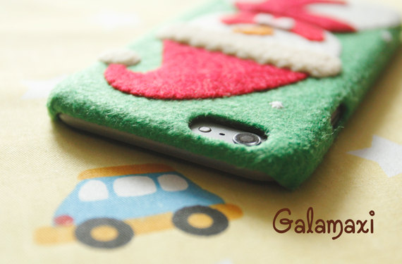 Christmas Themed Soft Felt Phone Cases - Snowman