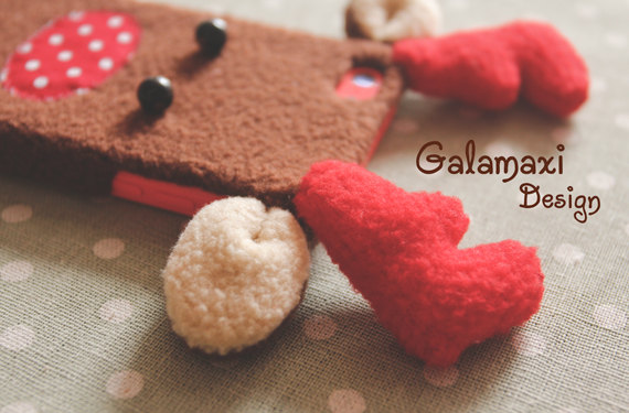 Christmas Themed Soft Felt Phone Cases - Reindeer