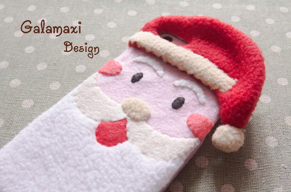 Christmas Themed Soft Felt Phone Cases - Santa Clause