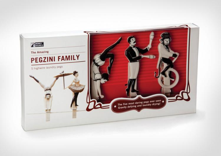 Amazing Pegzini Family Circus People Clothes Pins