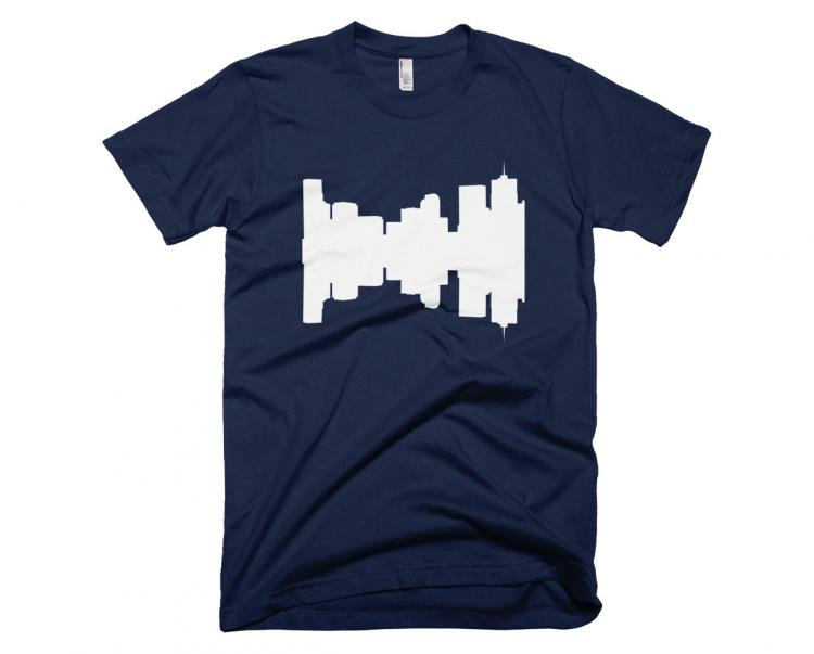 City Skyline Audio Wave T-Shirts - Denver