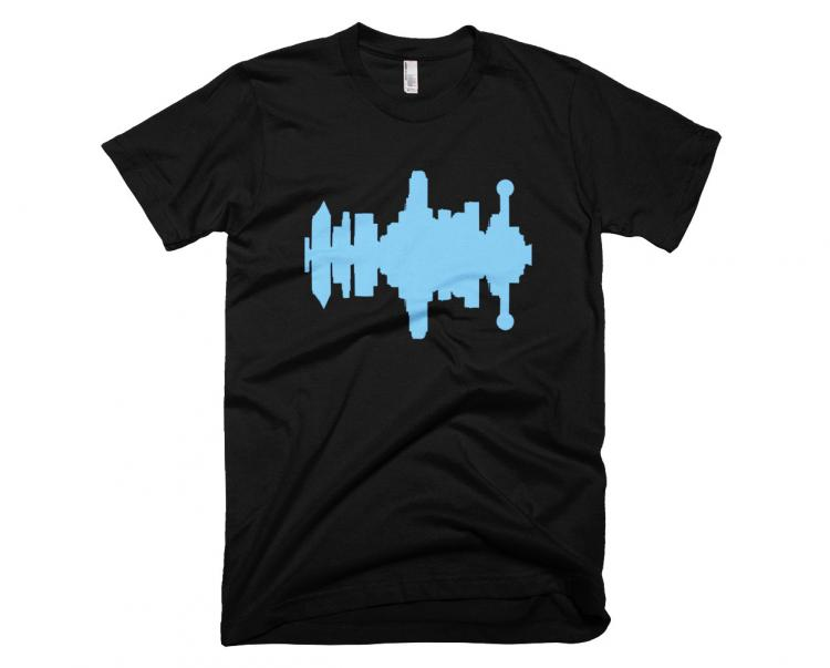 City Skyline Audio Wave T-Shirts - Dallas