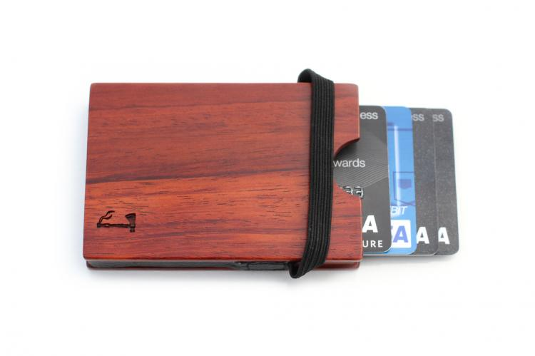 Slim Timber Wooden Wallet - Rosewood