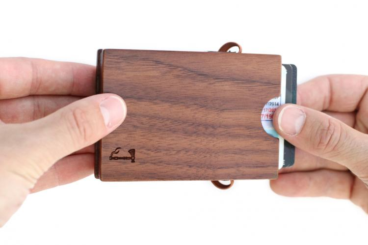 Slim Timber Wooden Wallet - Walnut Wood