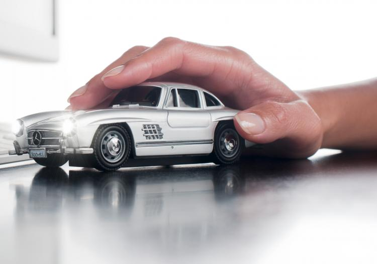 Click Car: Wireless Car Shaped Computer Mouse - Mercedes Benz Computer Mouse
