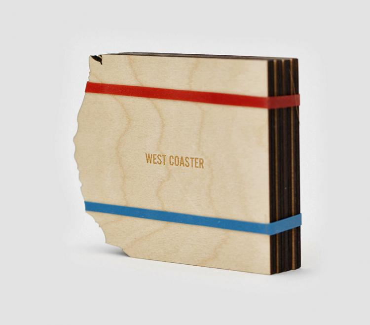 Coast Coasters - East and West Side Wooden Coasters