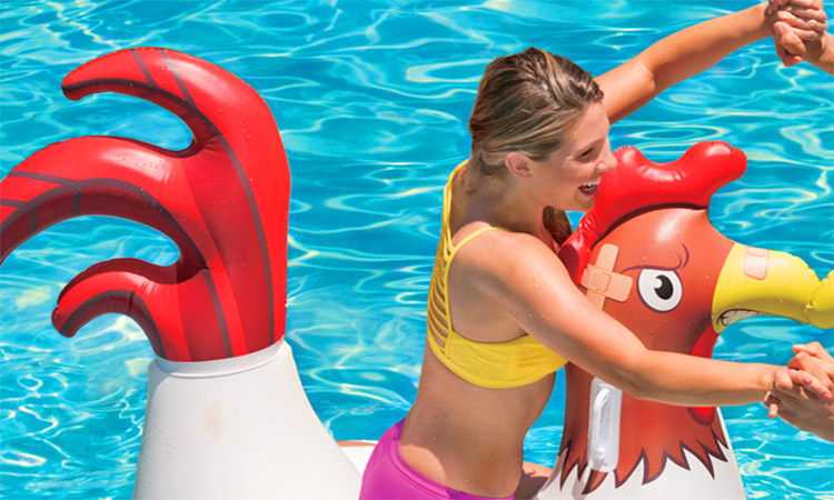 Cock-Fighting Floating Chicken Fight Pool Toys - Inflatable chicken fighting battle water toy