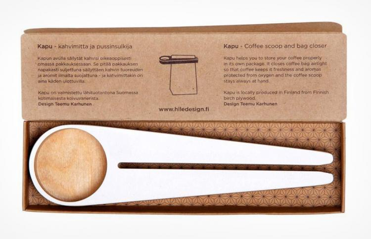 Kapu Coffee Scooper That Doubles as a Bag Sealer