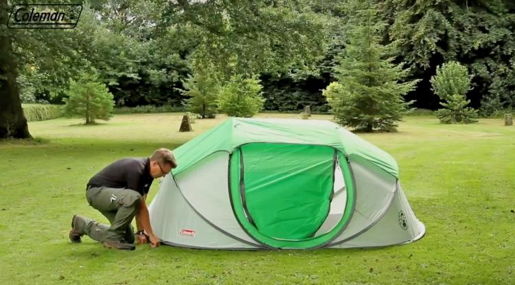 Coleman pop-up tent - 4-person camping tent sets up in seconds - Coleman Galiano