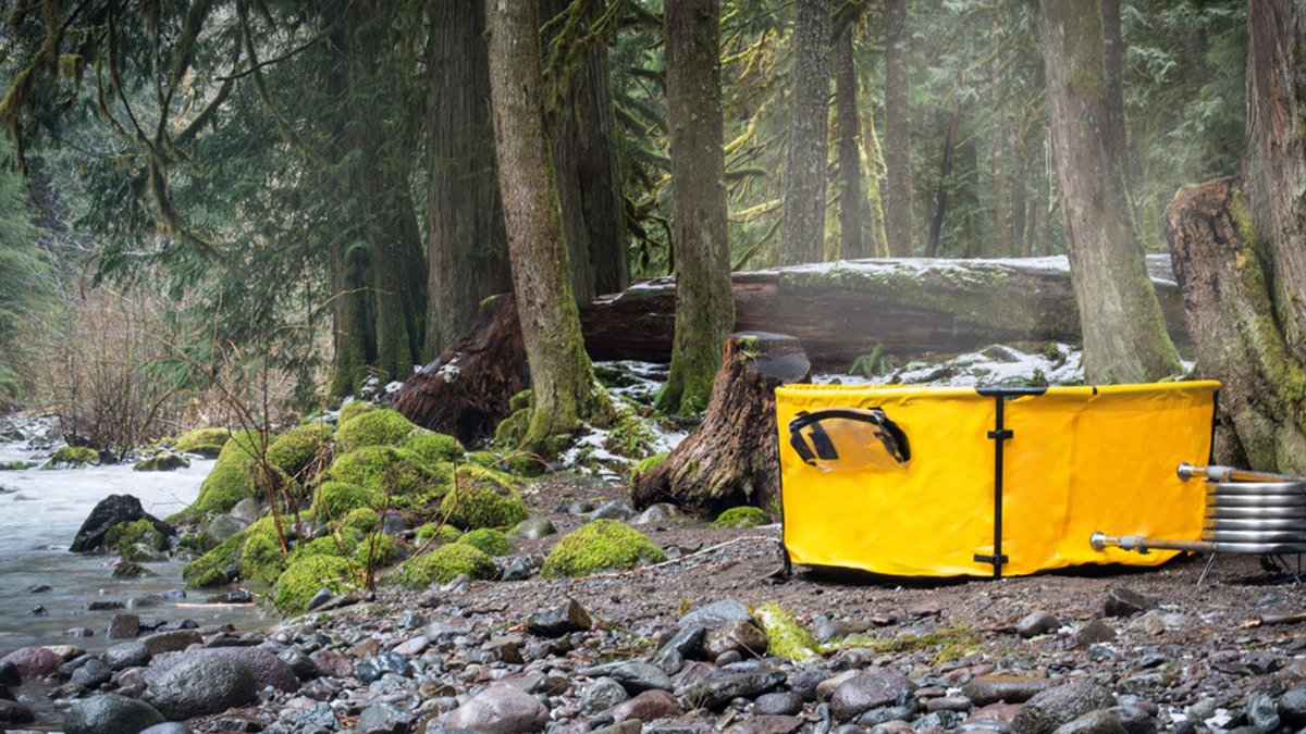 Collapsible Camping Hot Tub - Nomad Portable Tub and Fire Coil Hot Tub Heater