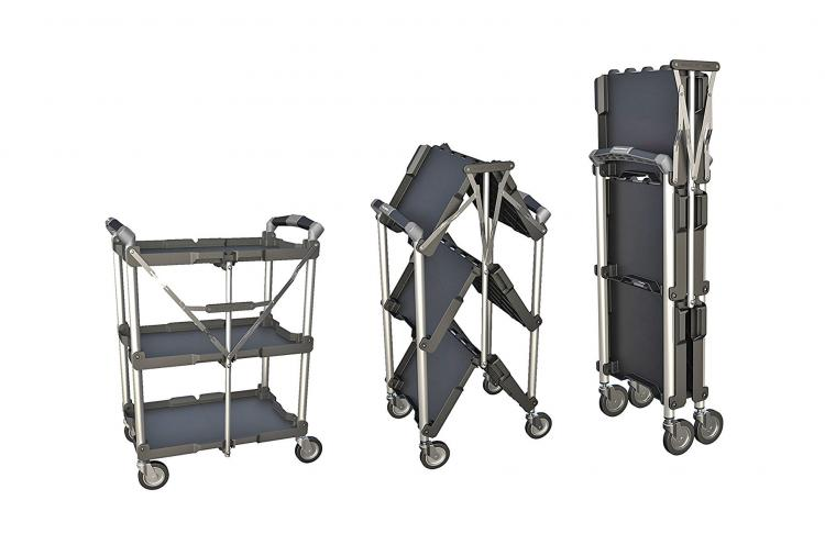 Olympia Collapsible Service Cart Folds Down To Just 8 Inches Wide