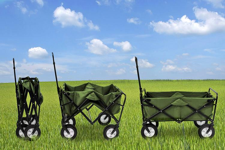 Mac Sports Collapsible Utitlity Wagon - Foldable Wagon for - Camping wagon - Beach wagon - Sports Games Wagon