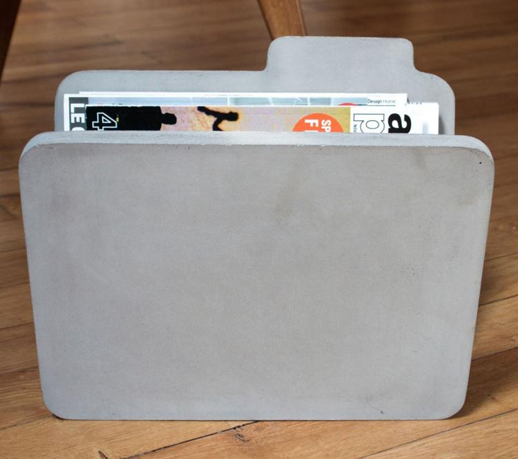 Concrete Folder Shaped Magazine Holder