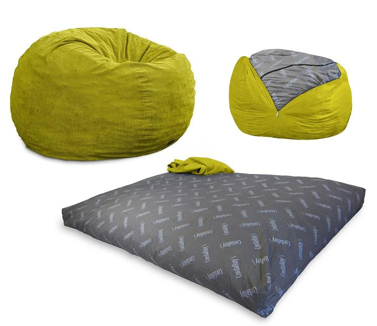Superb Convertible Bean Bag Chair Turns Into A Queen Size Mattress Bed   Bean Bag  Bed
