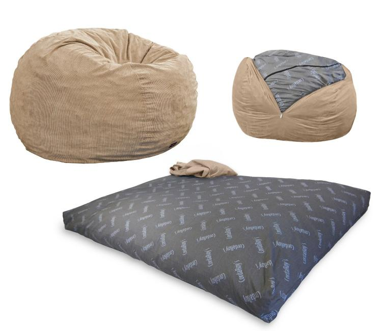 Convertible Bean Bag Chair Turns Into A Queen Size Mattress Bed   Bean Bag  Bed