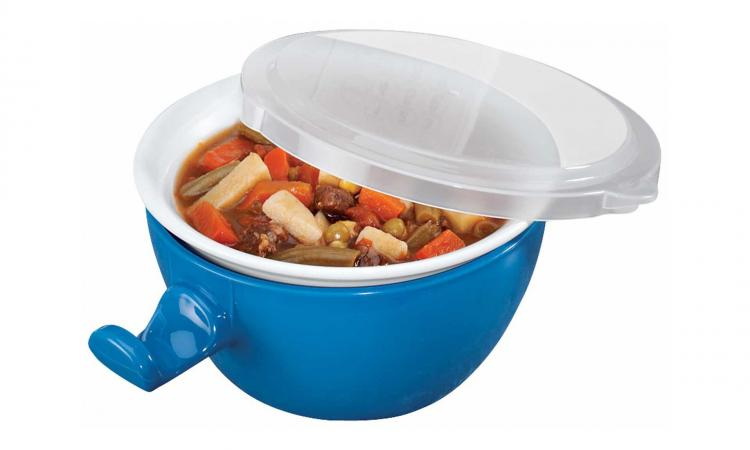 Cool Touch Microwave Bowl - Keeps Cool After Microwave