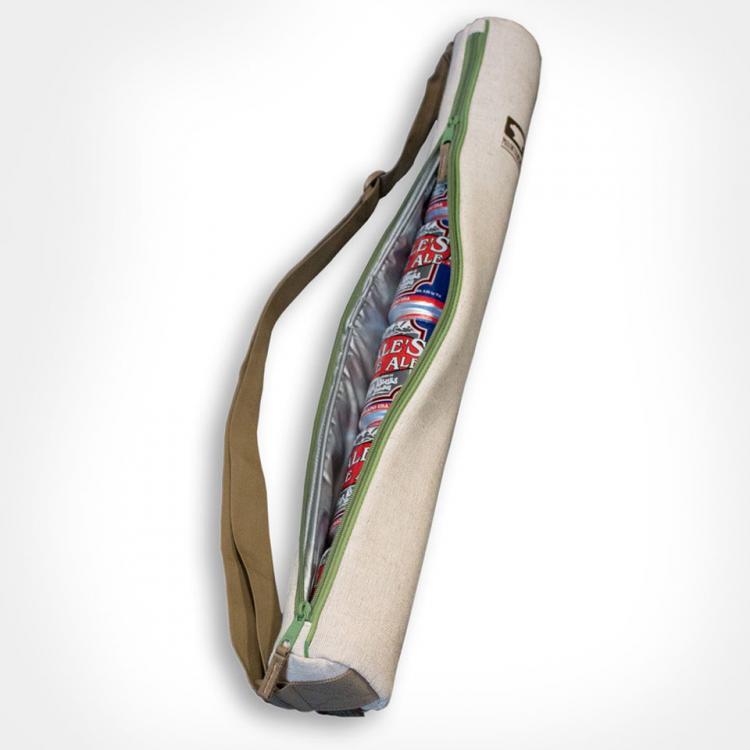 The Cooler Tube Is A 6 Pack Shoulder Strap Beer Cooler