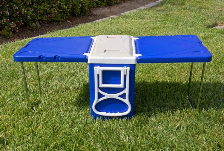 Cooler With Fold Out Table And Chairs