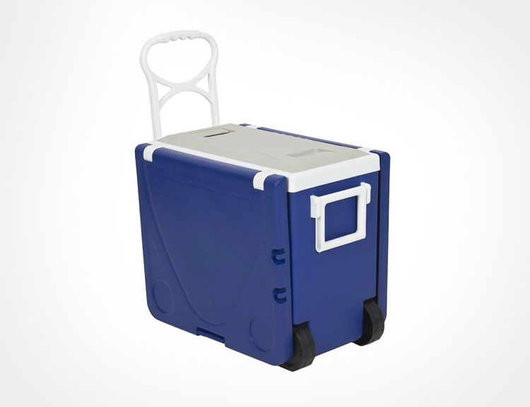 Rolling Cooler With Fold-out Table and Chairs - Mini Picnic Table Cooler