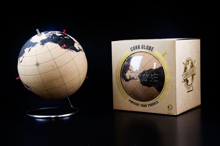Cork Globe - Pin Travel Points On Cork Globe