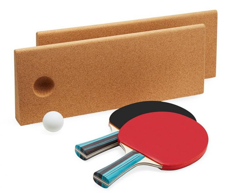Cork Ping Pong Net - CorkNet - Cork Table Tennis Net Doubles as a Trivet