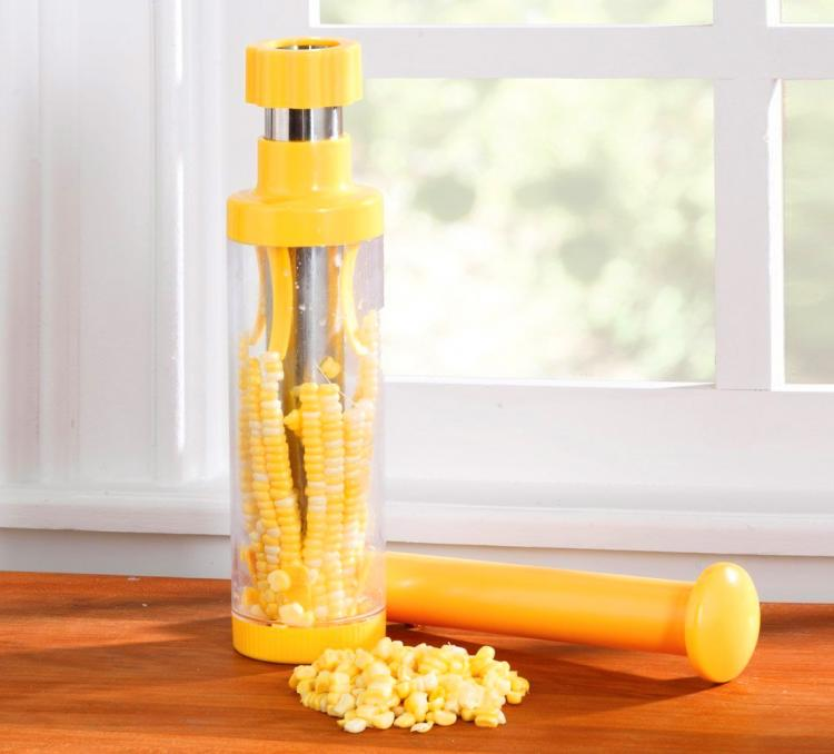 RSVP Deluxe Corn Stripper - Corn Stripper removes kernels from corn cobs in seconds