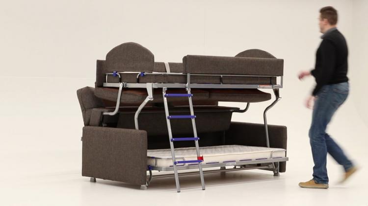 Sofa That Turns Into Bunk Beds - Elevated Bunk Bed Sofa Sleeper By Luonto Furniture