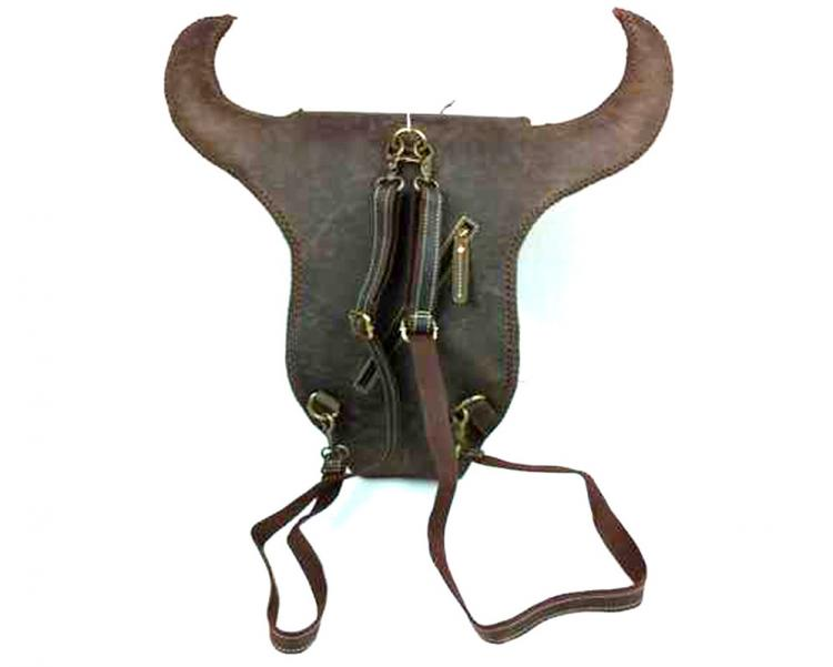 Leather Cow Head Backpack