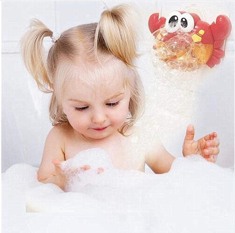 Crab Bubble Machine Bath Toy - Bubble wall crab bubble machine bathtub kids toy