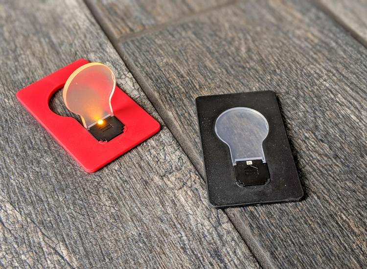 Credit Card Folding Bulb Lamp Fits In Your Wallet