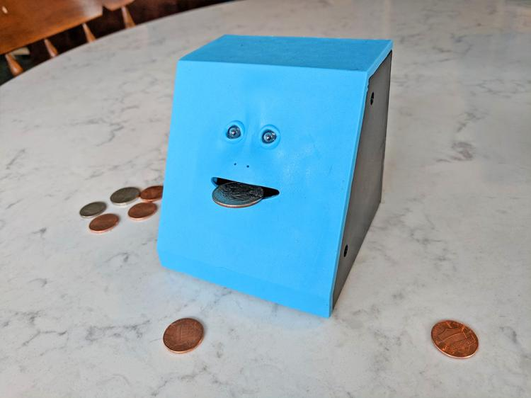 Face Bank Creepy Chewing Coin Bank That Eats Your Coins - Creepy Face Piggy Bank