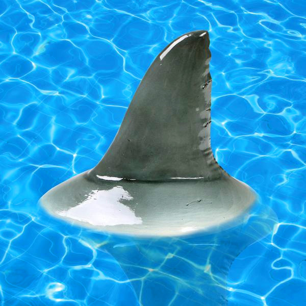 Shark Fin Pool Float - Scary prank shark fin floating pool toy - Shark fin pool/pond decoration