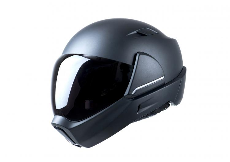 Cross Helmet Smart Motorcycle Helmet With Built-in Rear-View Camera - Heads-up-display helmet