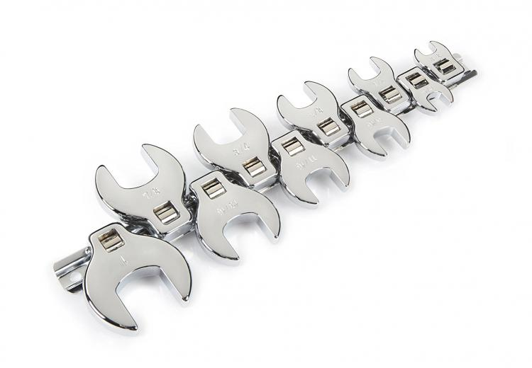 Tekton Crowfoot Wrench Set - Crowsfoot Crescent Wrench Ratchet Set