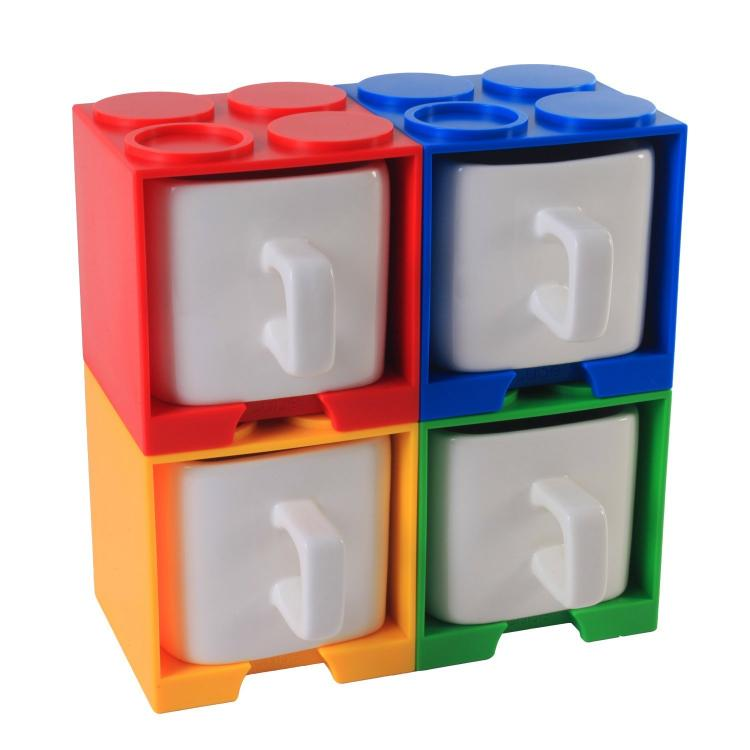 Cube Shaped Square Lego Coffee Mug