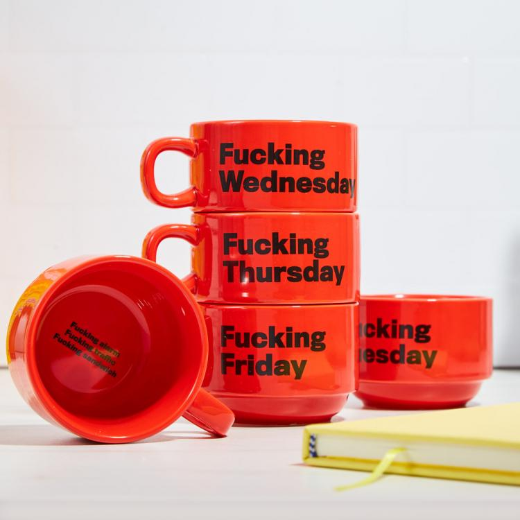 Cursing Weekday Cups Expresses Your Hatred For Each Day of The Week - Fucking Monday funny coffee mugs