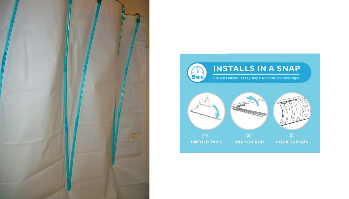 This Genius Shower Curtain Space Extender Gives You More Room While Showering