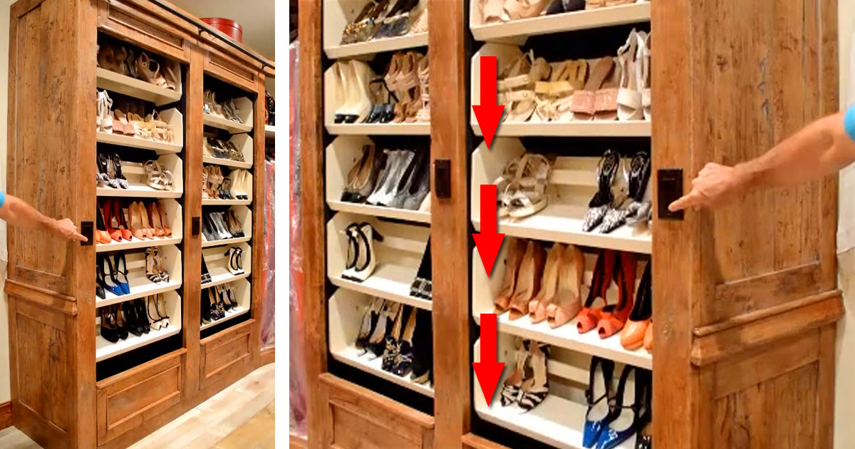Custom Electric Auto-Rotating Shoe Racks For Your Closet - Motor-driven rotating carousel conveyor shoe rack