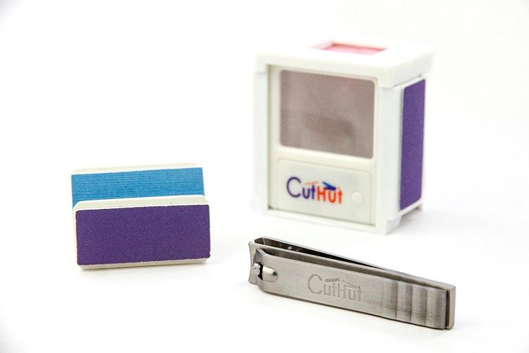 Cut Hut 4 Nails - Nail Clippings Box Contains Your Nails From Flying Around - Magnifying Glass - Lighted nail cutter - nail file and nail buffer