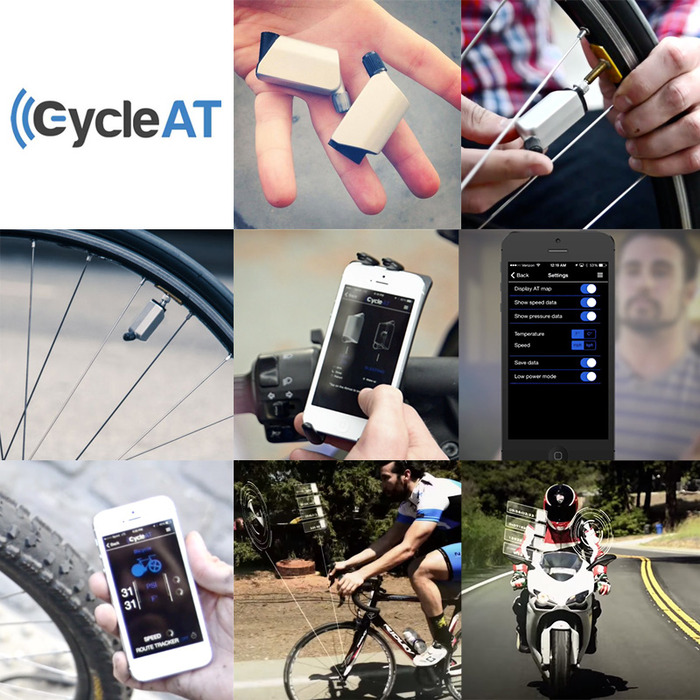 CycleAT is a Tire Monitor For Your Bike