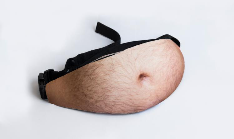 Dad Bag - Dad Bod Fanny Pack - Funny Hip Pack gives you a fat hairy gut