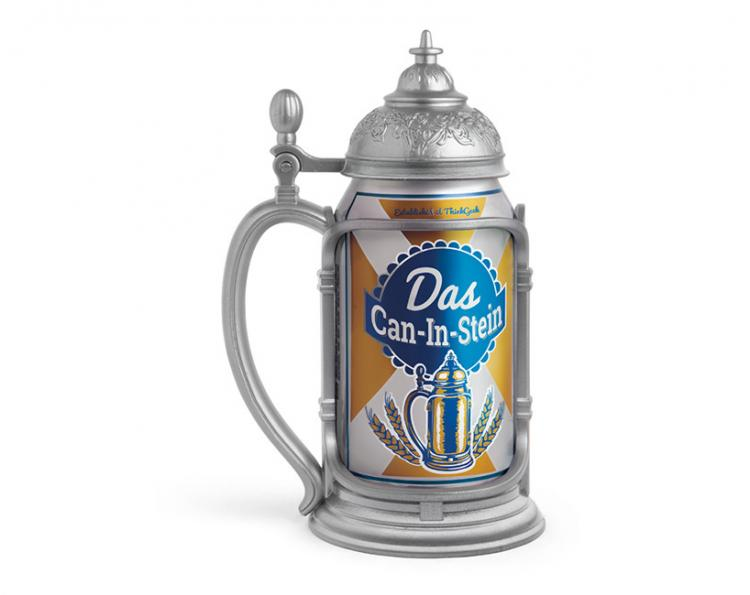 Das Can-in-Stein Pewter Tankard Beer Koozie