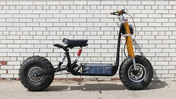 daymak beast a solar powered mini bike. Black Bedroom Furniture Sets. Home Design Ideas
