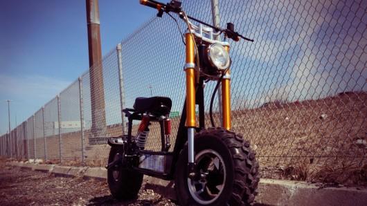 Daymak Beast: A Solar Powered Mini-Bike - Solar powered motor bicycle