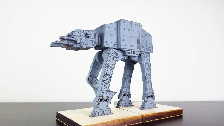 Star Wars AT-AT Bookends - Star Wars AT-AT Wooden Book Holder