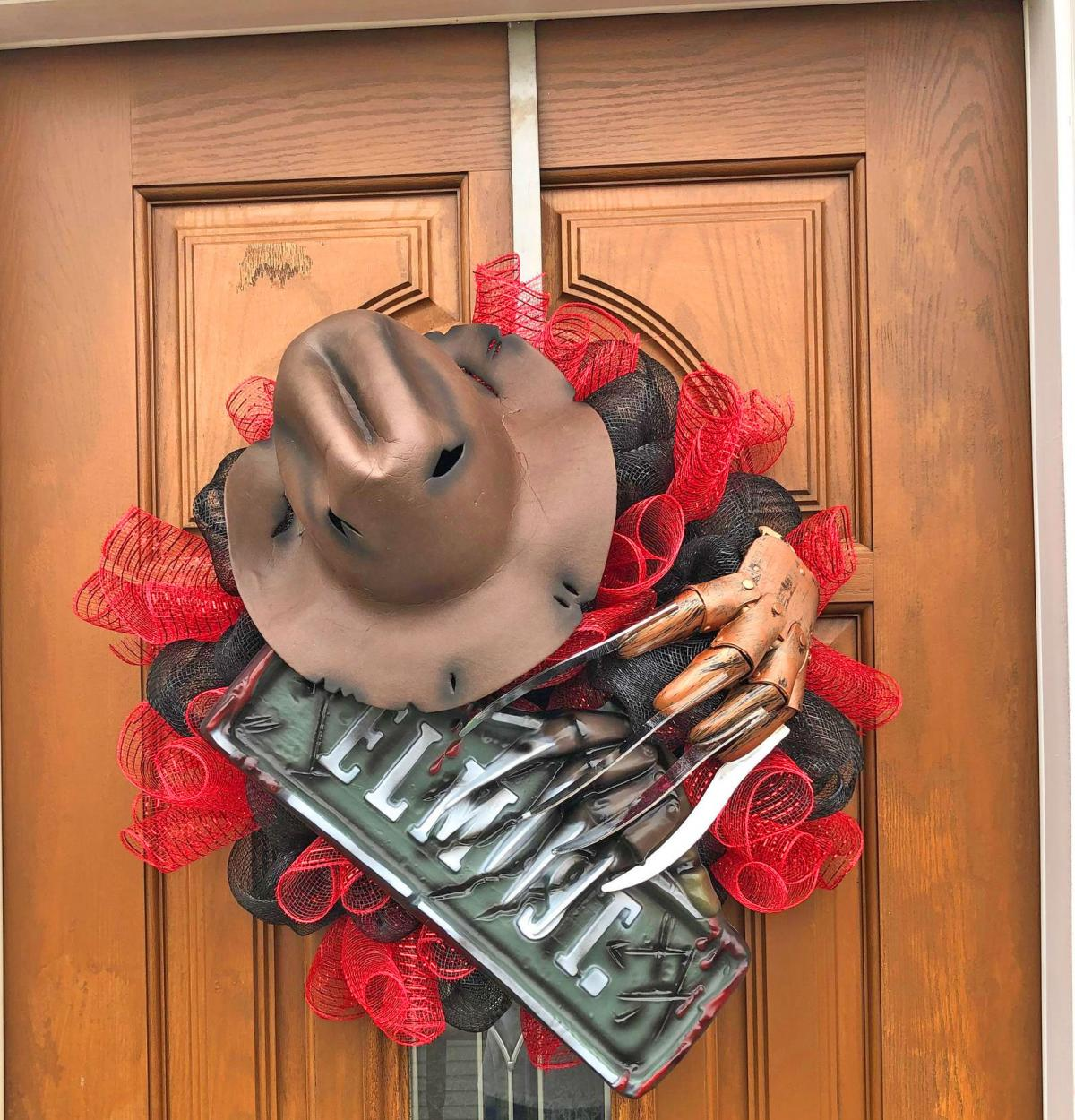 Freddy Krueger Wreath - Halloween Nightmare on Elm Street Wreath